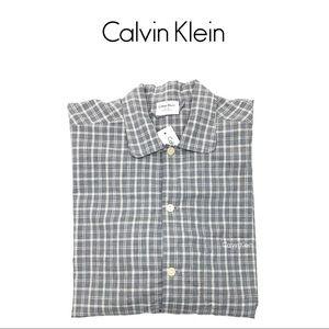 50% OFF Calvin Klein Mens Plaid Long Sleeve Shirt